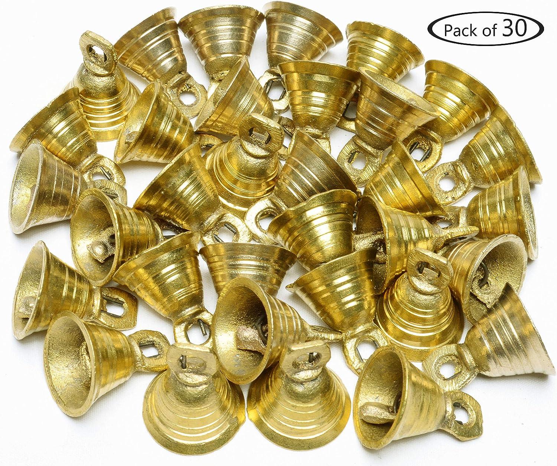 "1"" H Lot 30 Brass Bells Elephant Cow Camel Decor Bells Vintage Style Indian Craft"