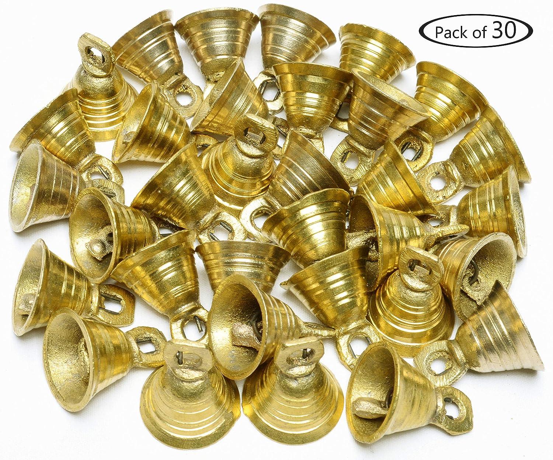 1H Lot 30 Brass Bells Elephant Cow Camel Decor Bells Vintage Style Indian Craft