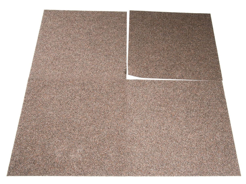 Premiumklasse Beige Floori Teppichfliesen Jazz Set 2,5kg//m/², antistatisch, bitum