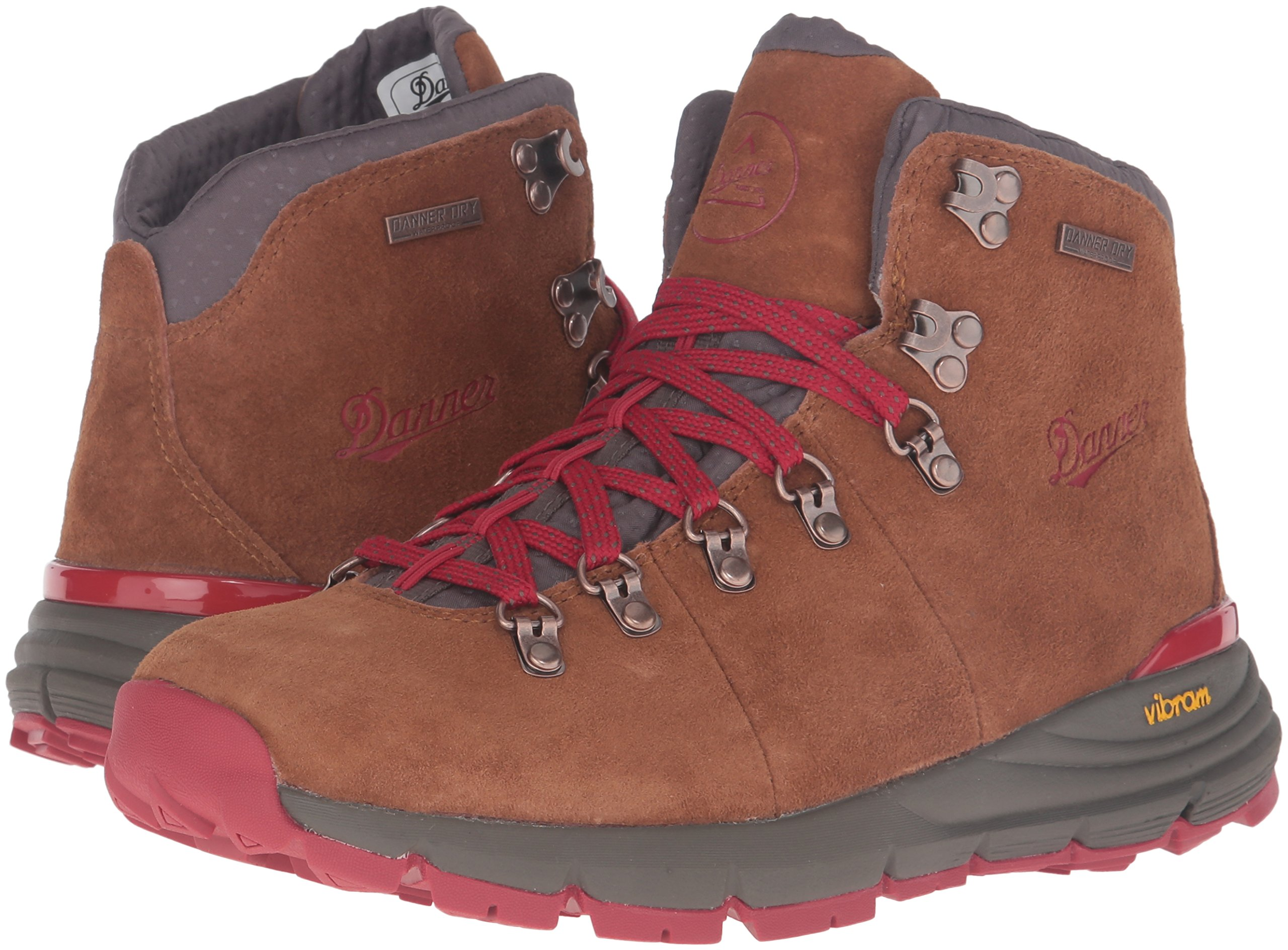 Danner Women's Mountain 600 4.5'' Hiking Boot, Brown/Red, 8.5 M US by Danner (Image #6)
