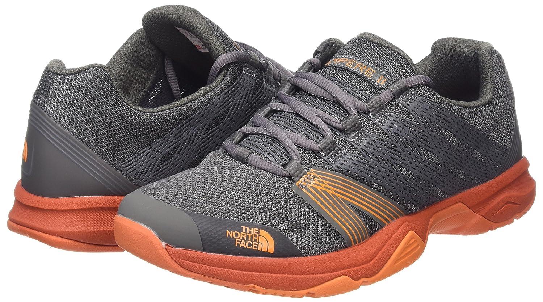 Amazon.com | The North Face Mens Litewave Ampere II Dark Grey/Orange Size 11.5 | Road Running