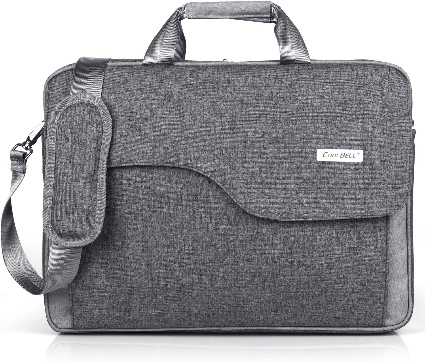 CoolBELL 15.6 Inch Laptop Bag Nylon Shoulder Bag Messenger Hand Bag Briefcase for Men/Women (Grey)