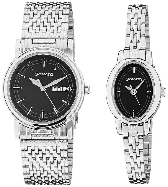 Analog Black Dial Unisex Watch -NK11418100SM01