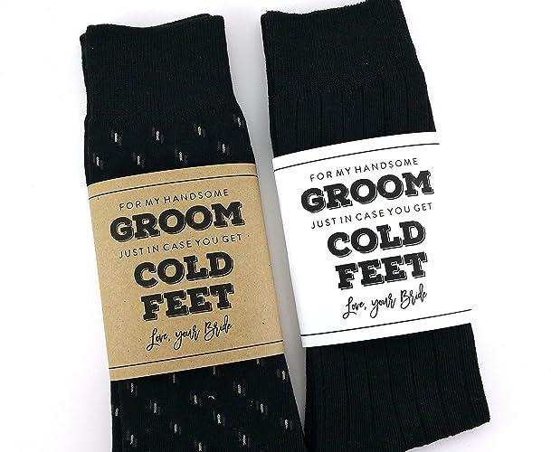 Amazon cold feet sock wrapper groom gift wedding socks cold feet sock wrapper groom gift wedding socks wrapper wedding socks label junglespirit Choice Image