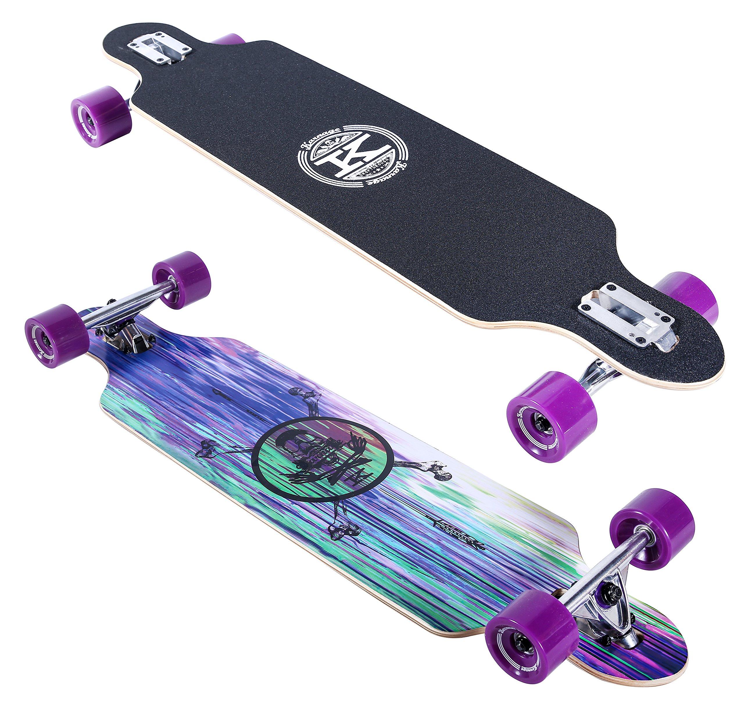 Karnage Drop Through Longboard (Purple)