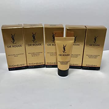 7cd0de9905c Amazon.com: Yves Saint Laurent or Rouge 19ml (Mask-in-Cream 5ml x 2ea, UV  Protection SPF50 3ml x 2ea, Serum 3ml x 1ea), trial sample size: Beauty