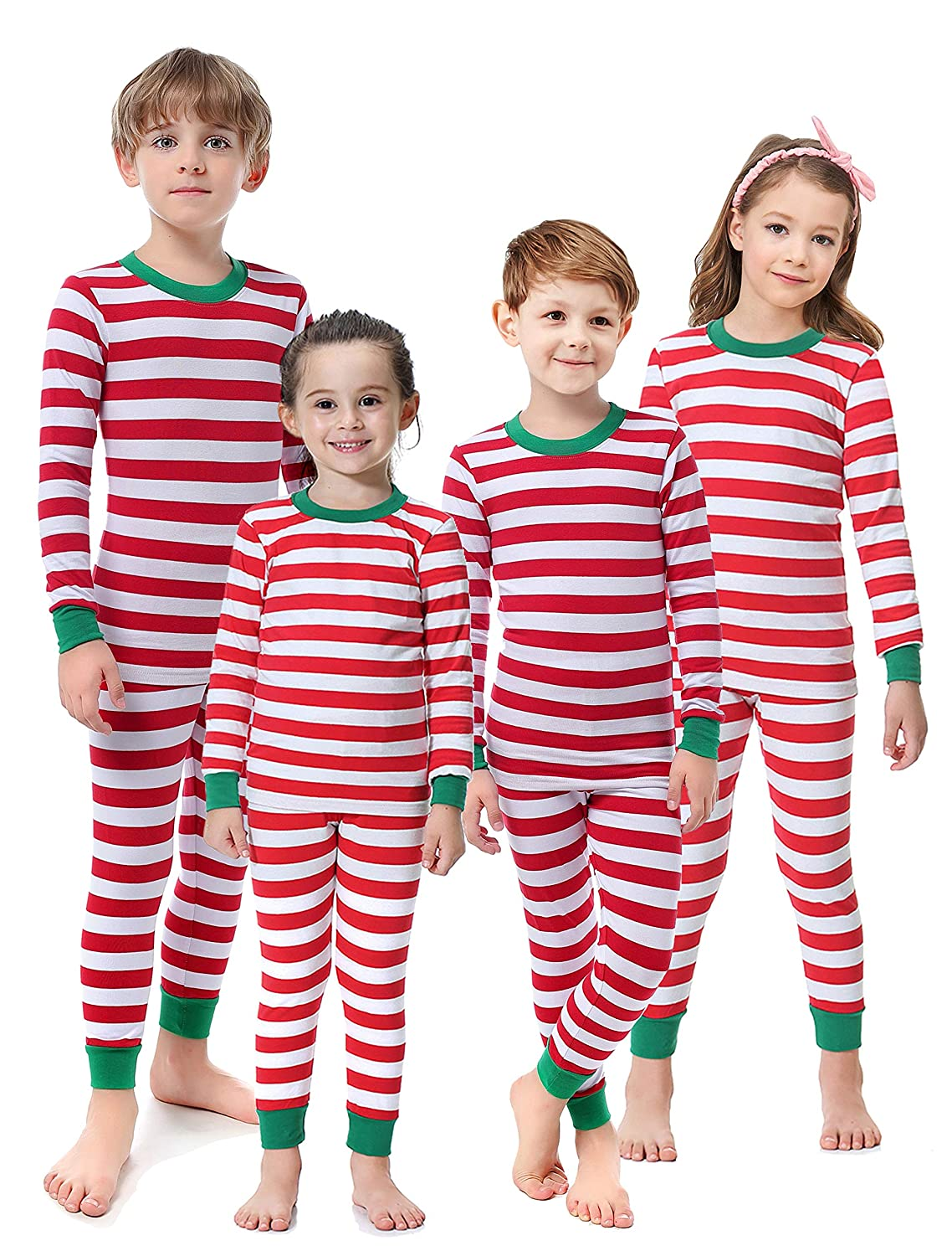 Amazon.com  Matching Family Christmas Boys Girls Pajamas Striped Kids  Sleepwear Children Clothes  Clothing d26e119d6