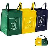 Set di sacchetto di immondizia bin separatore bidone dei rifiuti sistema di raccolta differenziata sistema di separazione differenziata ceneri spreco spazzatura 3 riciclo