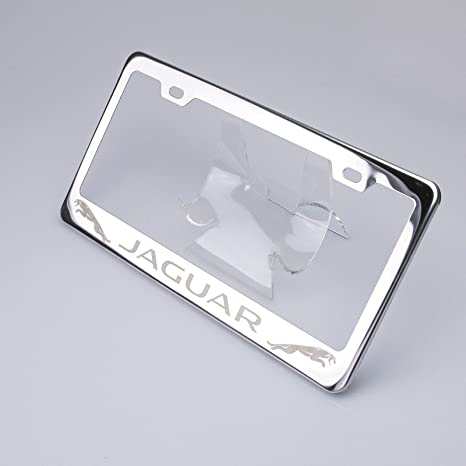 Amazon.com: 100% Stainless Steel Jaguar Laser Engrave Chrome Mirror ...