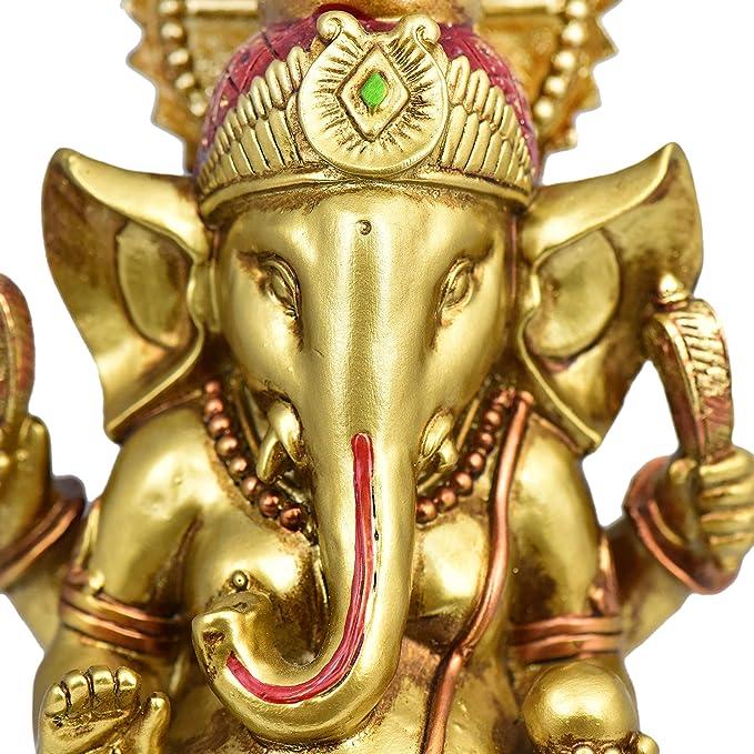 Whitewhale Lord Ganesha Brass Idol Ganesha Statue Elephant God Head Figurine