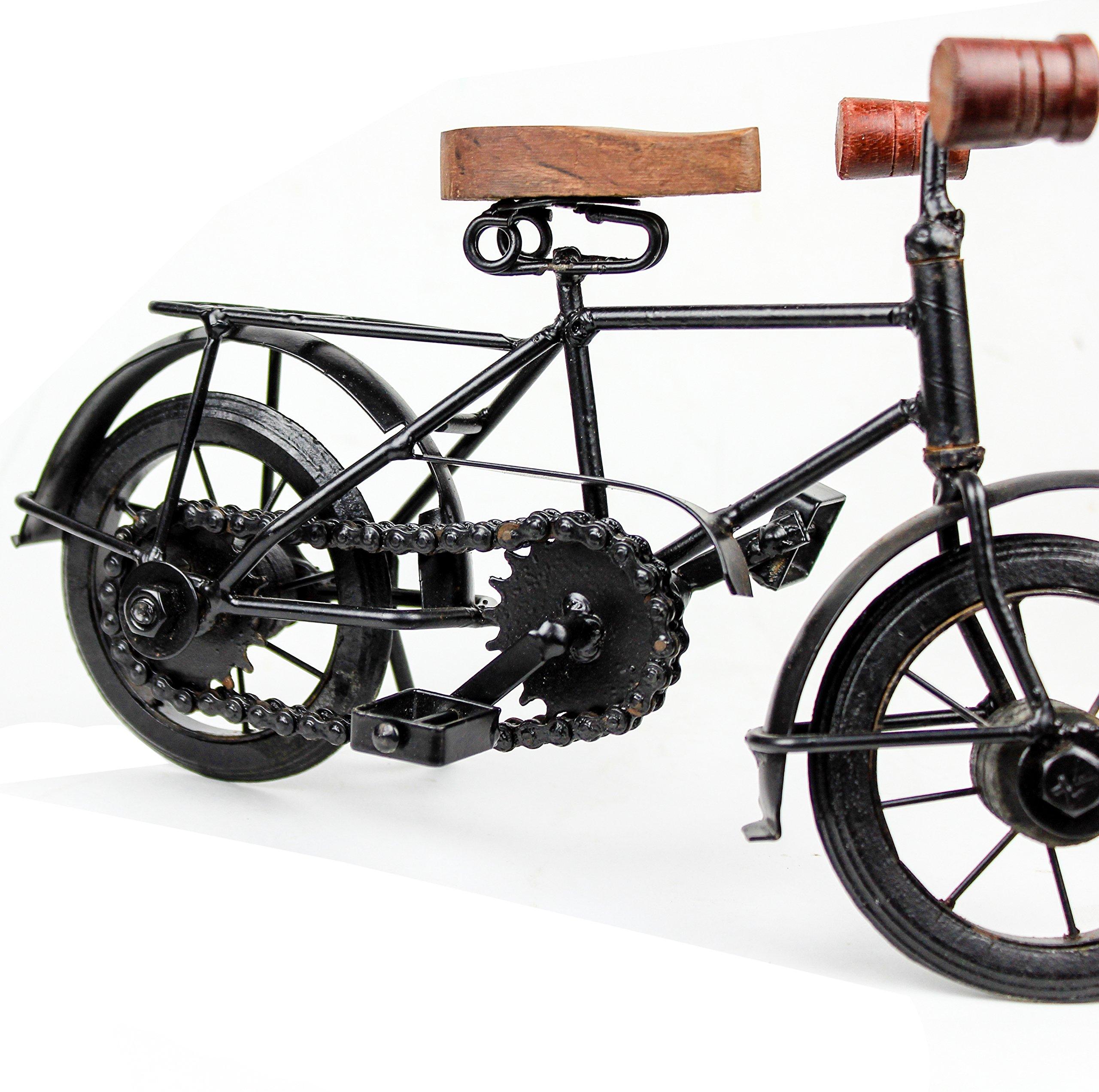 Nagina International Home Decor Iron Metal Crafted Beautiful Finger Bike   Table Decor Gifts Vehicle   Games Toy Cycle (Postman) by Nagina International (Image #3)