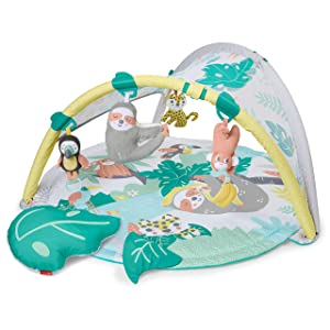 Skip Hop Tropical Paradise Baby Play Mat and Infant Activity Gym with Portable Sloth Soother