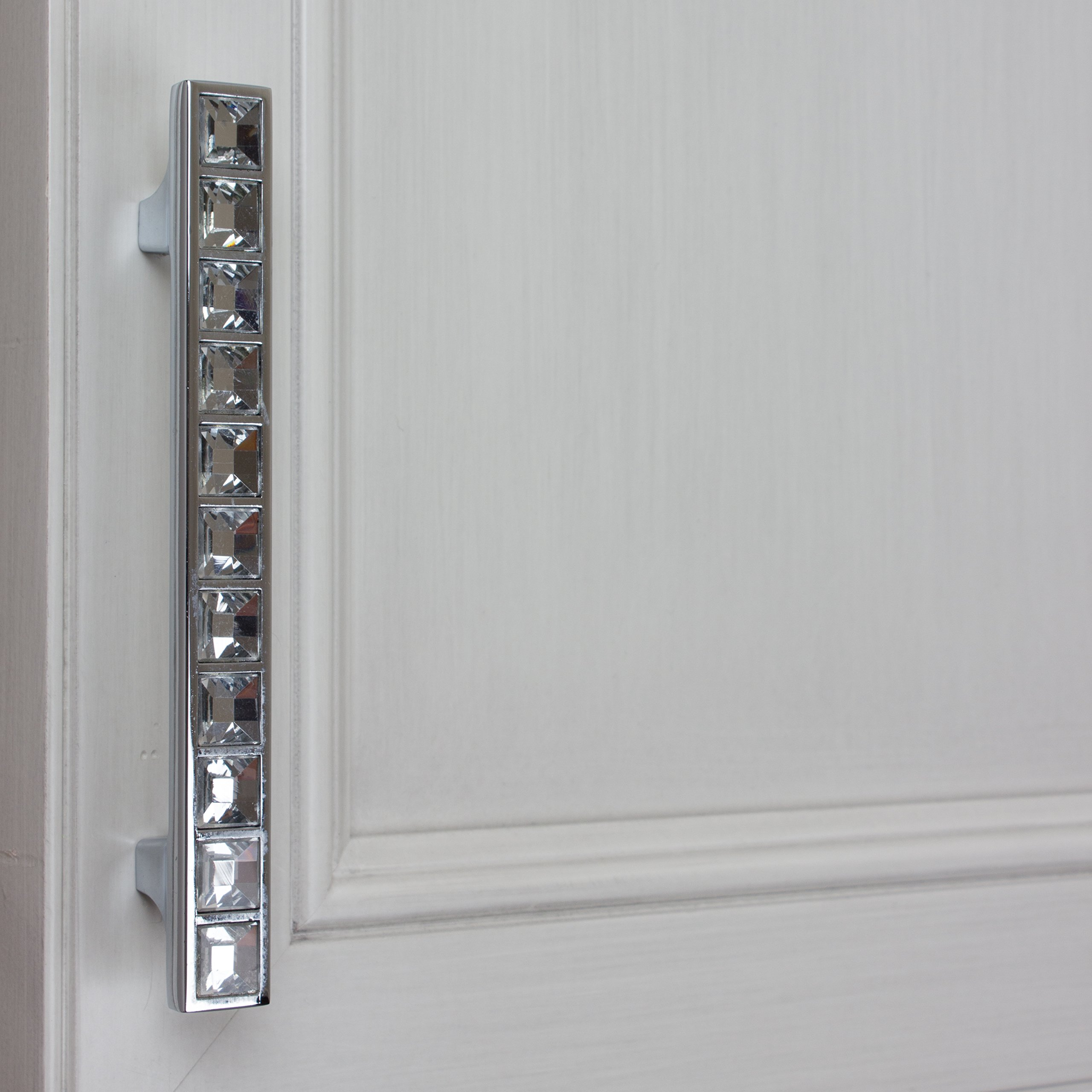 GlideRite Hardware 9052-96-CR-50 3.75'' CC K9 Crystal Cabinet Pulls, 50 Pack, Small, Clear by GlideRite Hardware (Image #5)