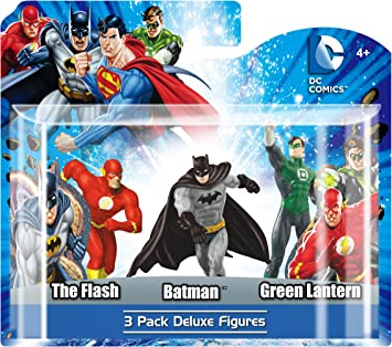 Monogram - DC Universe, Pack B de 3 Figuras: Flash, Batman y ...