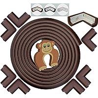 Protezione Contro Spigoli e Angoli   BIANCO CREMA / NERO / MARRONE CAFFÈ   6,2 m di Copertura EXTRA-LUNGA, EXTRA-DENSA con 8 Proteggi-Angoli Adesivi - La Miglior Protezione Bambini per la Casa