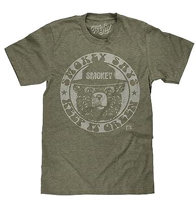 447d365bf68 Amazon.com  Tee Luv Smokey Bear T-Shirt - Keep It Green Retro Smokey ...