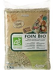 AIME Foin Bio, Certifie AB Agriculture Biologique, Sac de 1 Kg pour Petits Animaux