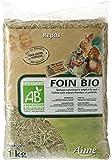AIME Foin Bio Certifie par Fr-bio-01 1 kg pour Petits Animaux