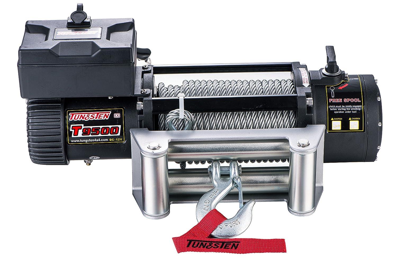 tungsten4 X 4 eléctrico utilidad cable cabestrante con rollo Fairlead: Amazon.es: Coche y moto
