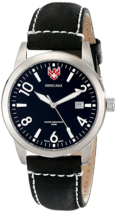 Swiss Eagle Analog Black Dial Men's Watch-SE-9029-01 Men's Watches at amazon