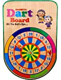 Sunshine Wooden Dartboard, Magnetic Dartboard with 3 Darts Magnetic Board (Size: 45 x 30 cm)