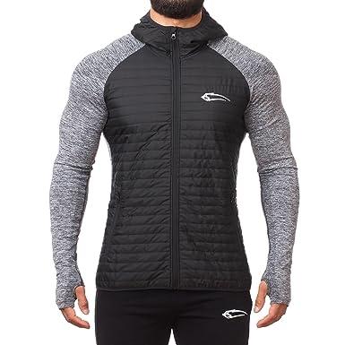 SMILODOX Premium Seamless Padding Jacke | Slim Fit Laufjacke für Herren | Wärmeisolierende & Atmungsaktive Steppjacke ideal für Sport & Outdoor Keep
