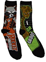 Marvel Guardians Of The Galaxy Rocket and Groot 2 Pack mens Crew Socks