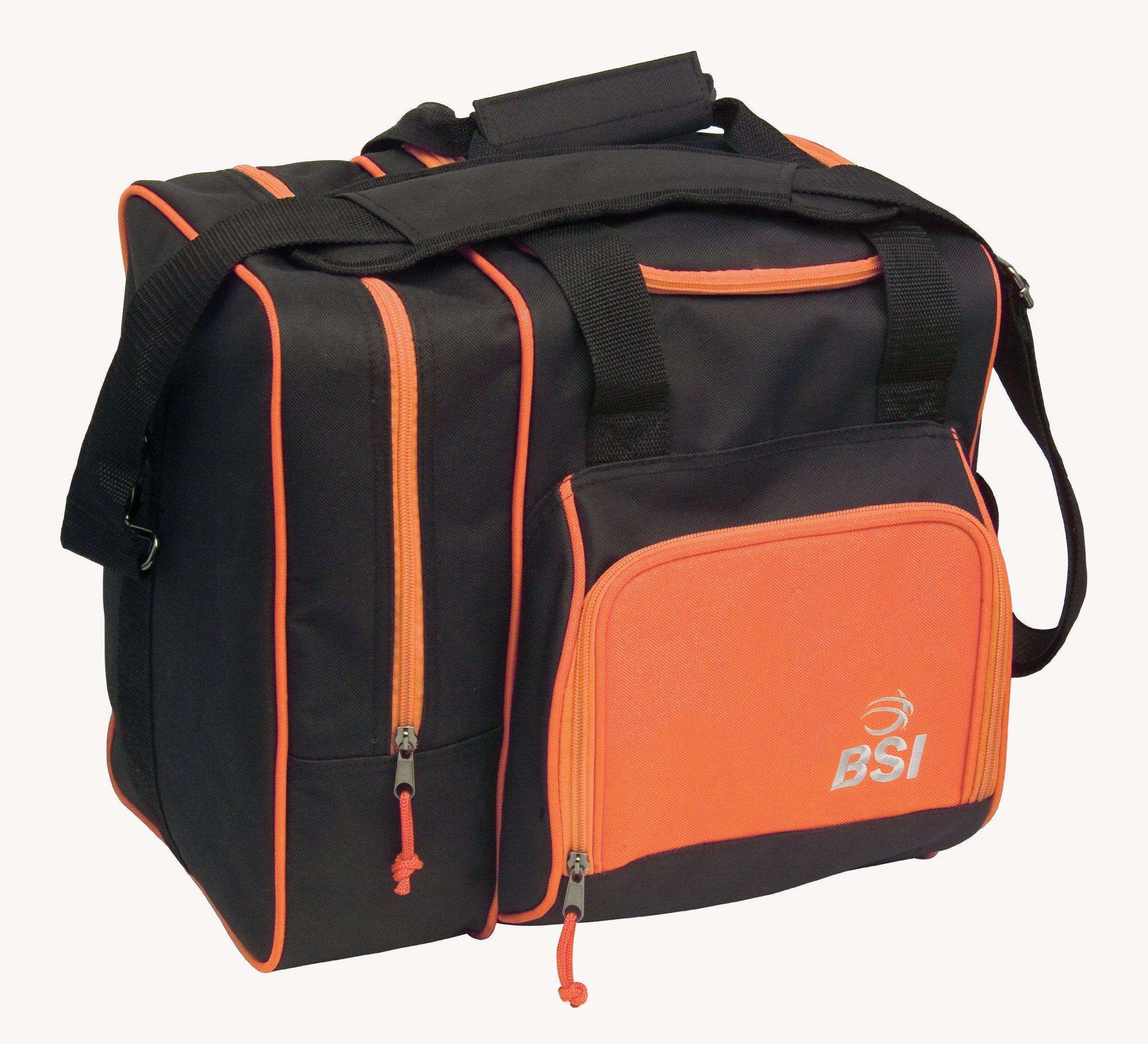 BSI Deluxe Single Ball Tote Bag (Black/Orange)