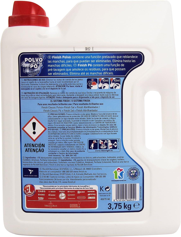 Finish Detergente Lavavajillas Polvo - 3,75 kg: Amazon.es: Amazon ...