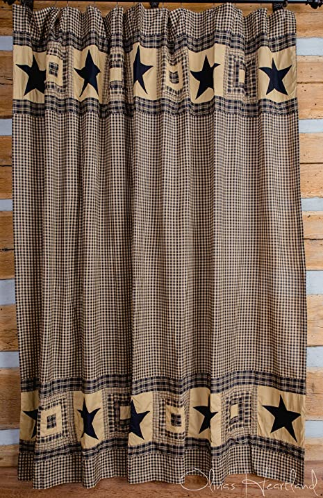 black and tan shower curtain. Colonial Star Black and Tan Shower Curtain Amazon com  Home Kitchen