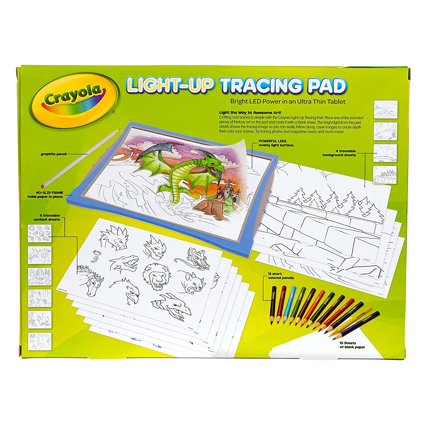 BLUE BRIGHT LED POWER in an Ultra Thin Tablet NEWEST MODEL Crayola Light Up Tracing Pad