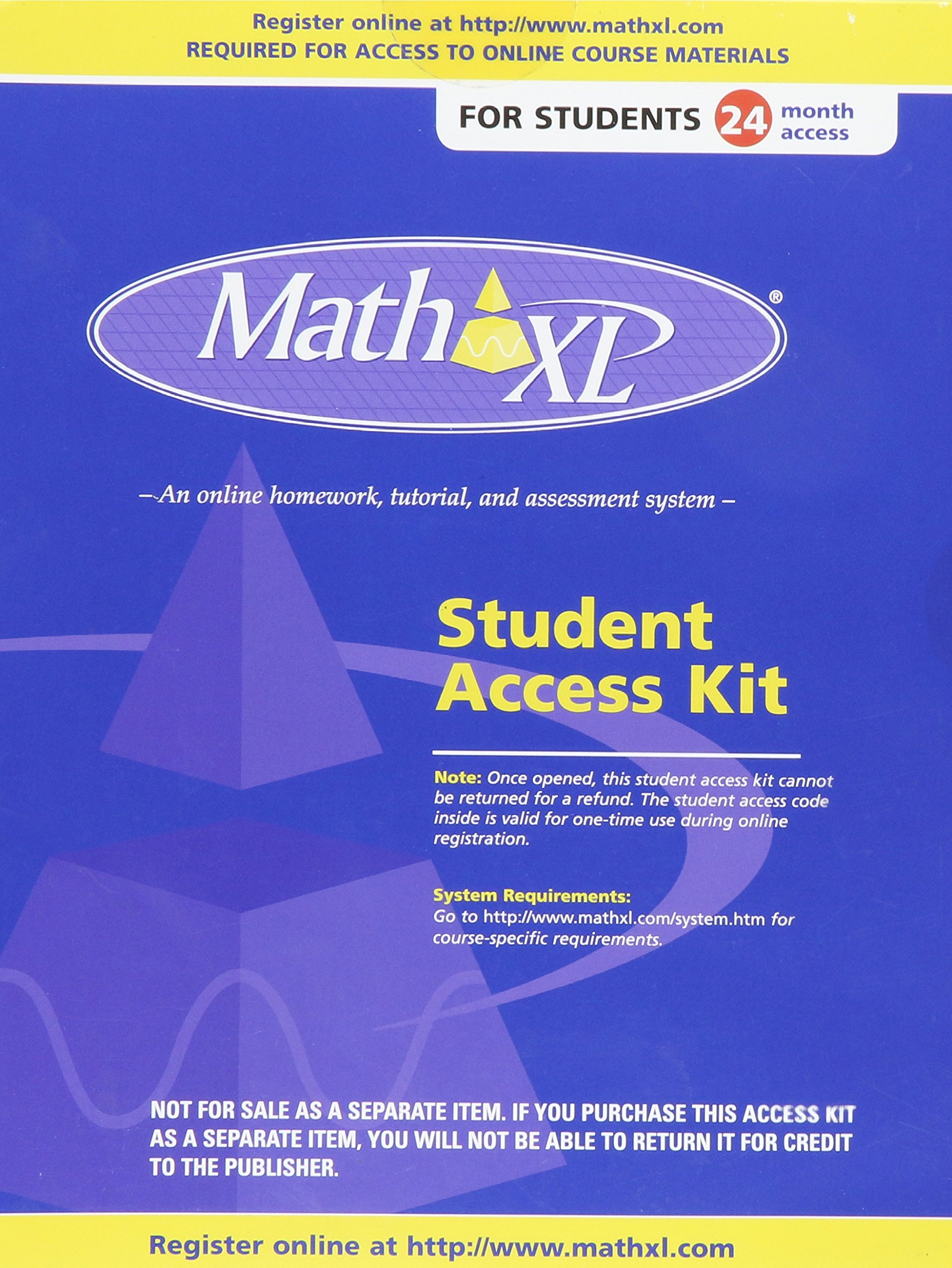 mathxl 24 month student coupon intellipro 9780321129871 amazon