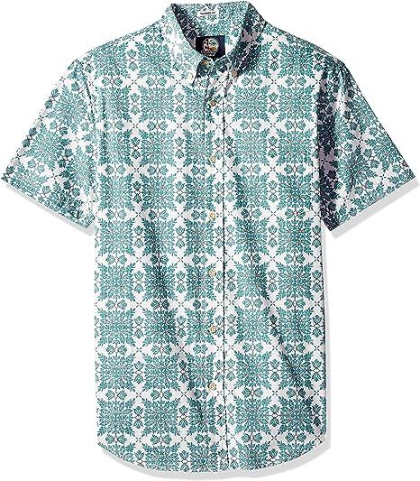 YUNY Mens Long Sleeve Button Regular Fit Oversized Plaid Western Shirt Blue M