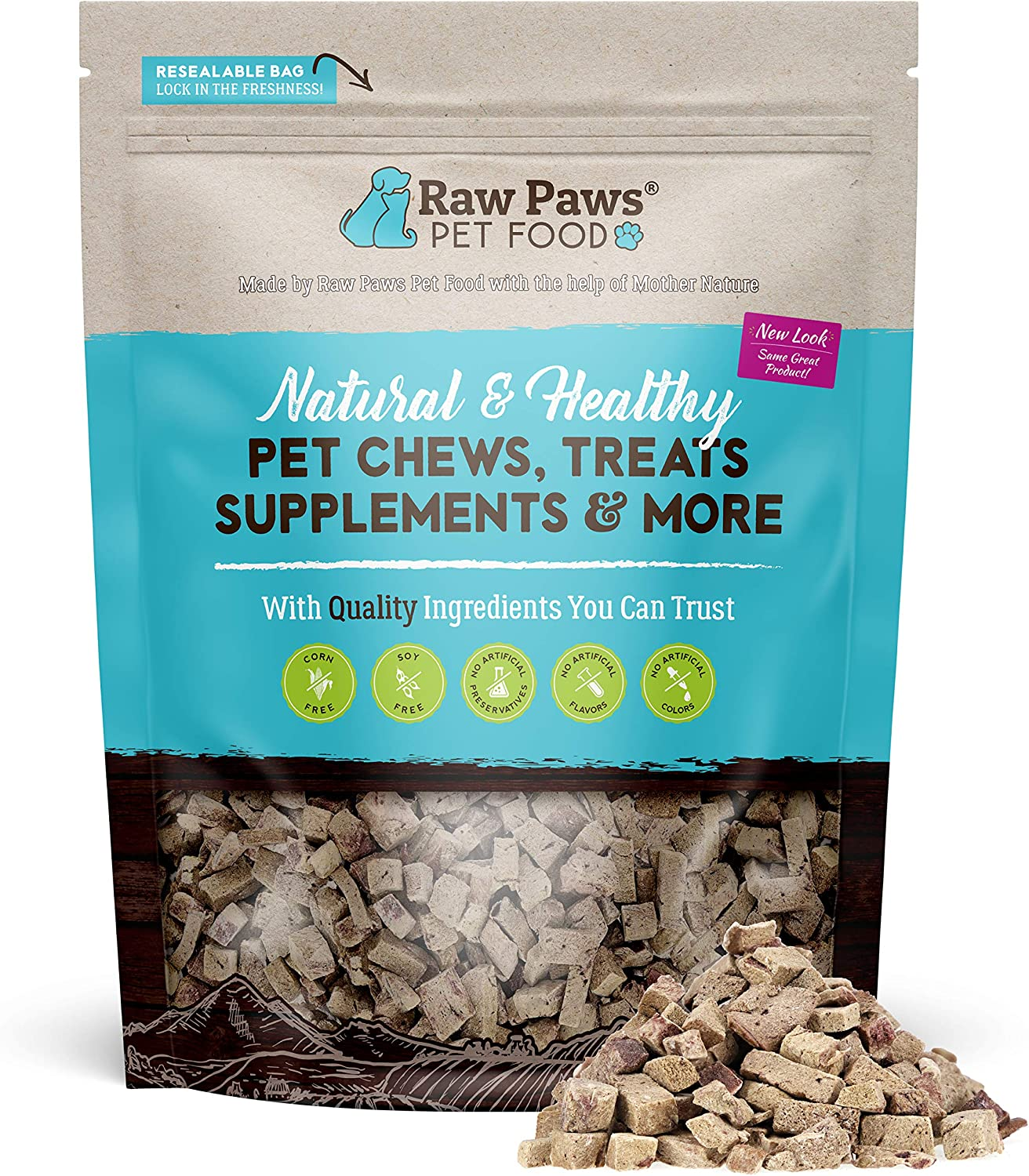 Raw Paws Freeze Dried Beef Liver Treats for Dogs & Cats - Made in USA, Real, Healthy, Grain-Free, Crunchy Dry Dog Liver Treats - Freeze Dried Dog Treats for Small to Large Dogs, Training Treats