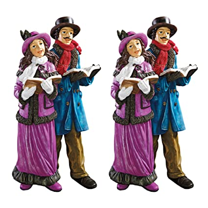 christmas decorations charles dickens victorian christmas carolers holiday decor statue