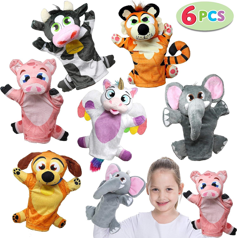 JOYIN 6PCS Títeres de Mano Marionetas de Mano Animal Juguete para Niños Juguetes de Fiesta Cumpleanos