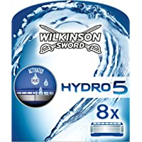 Wilkinson Sword Hydro 5 Rasierklingen Klingen, für Herren Rasierer, 8 St