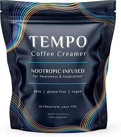 Tempo Keto Coffee Creamer with MCT Oil & Fermented Ginseng | Energy, Vitality & Focus Without Caffeine Crash | Vegan, Clean Ingredients, 30 Servings