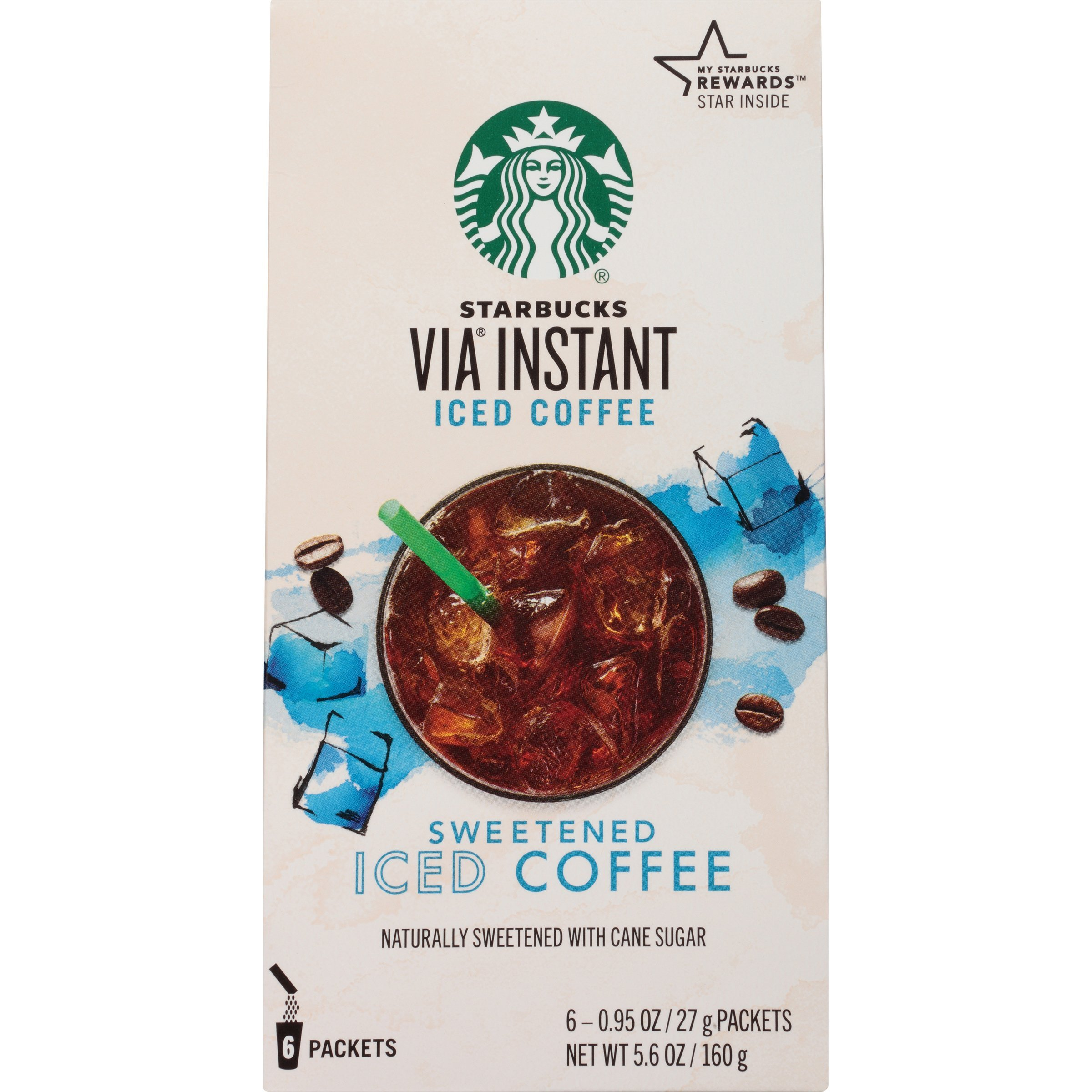 Starbucks VIA Instant Coffee, Sweetened Iced Coffee, 36 Count by Starbucks