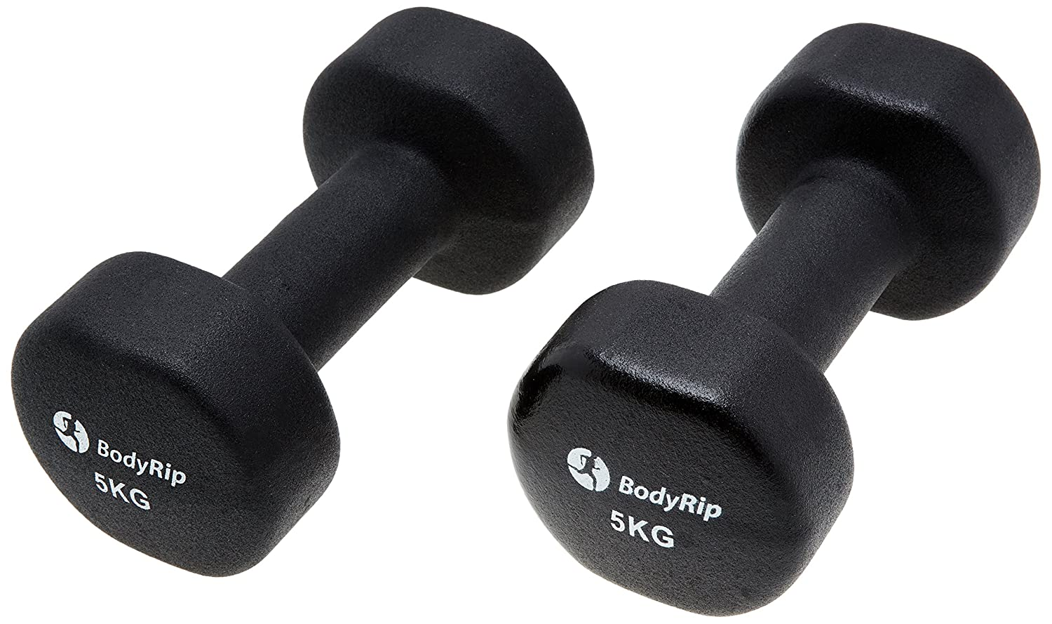 9a22c5d5b1e BodyRip 2 x 5kg Fitness Neoprene New Hand Weight Dumbbells For Home Gym  Training  Amazon.co.uk  Sports   Outdoors