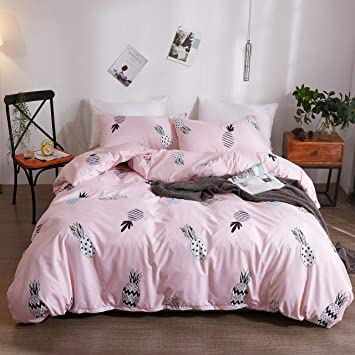 Bedding Sets Bed Set Pillowcase Quilt Duvet Cover Pineapple Printed Queen Sizes