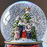 WeRChristmas Carol Singer Colour Changing Snow