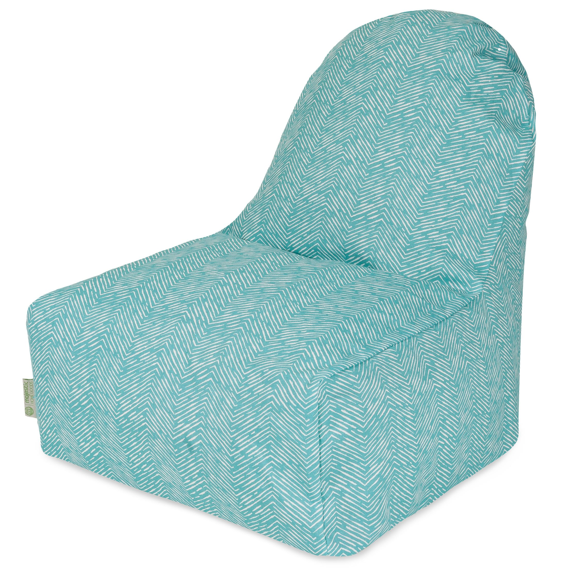 Majestic Home Goods Navajo Kick-It Chair, Teal