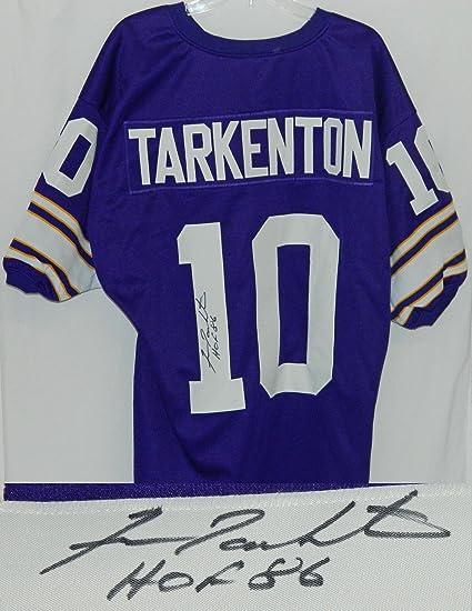 quality design cd7d3 626ba Signed Fran Tarkenton Jersey - Purple Custom w HOF 86 ...