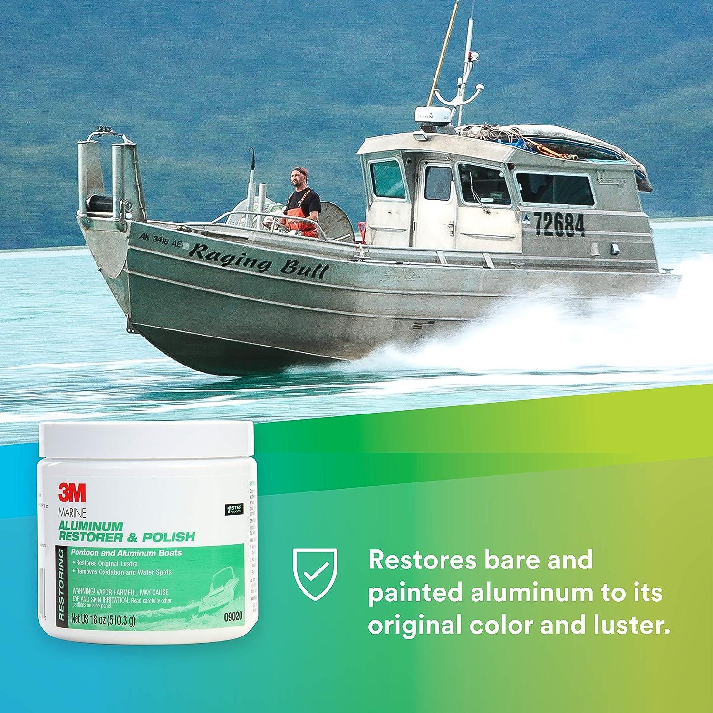 on sale 3ebd8 3fb9b Amazon.com  3M Marine Aluminum Restorer   Polish (09020) – For Boats and  RVs – 18 Ounces  Automotive