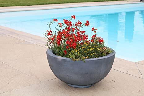 Vaso Da Esterno Grigio : Amacasa vaso per piante fioriera vaso fioriera cemento design