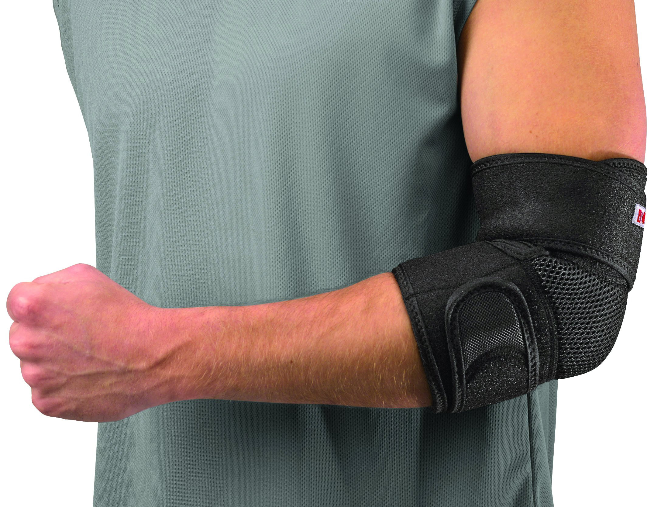 Mueller Adjustable Elbow Support, Black, One Size Fits Most (Packaging May Vary)