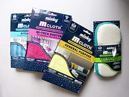 Pink Cleaning Pad Ghetto Minky Style Mrs Hinch Army Narnia Hinching Cloths