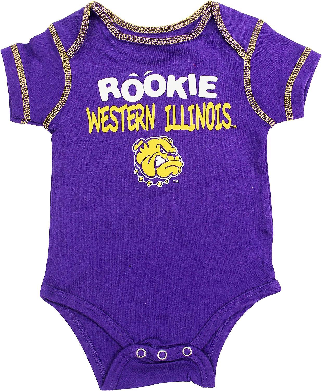 Outerstuff Western Illinois Leathernecks Baby Clothing University 3 Piece Creeper Apparel Set