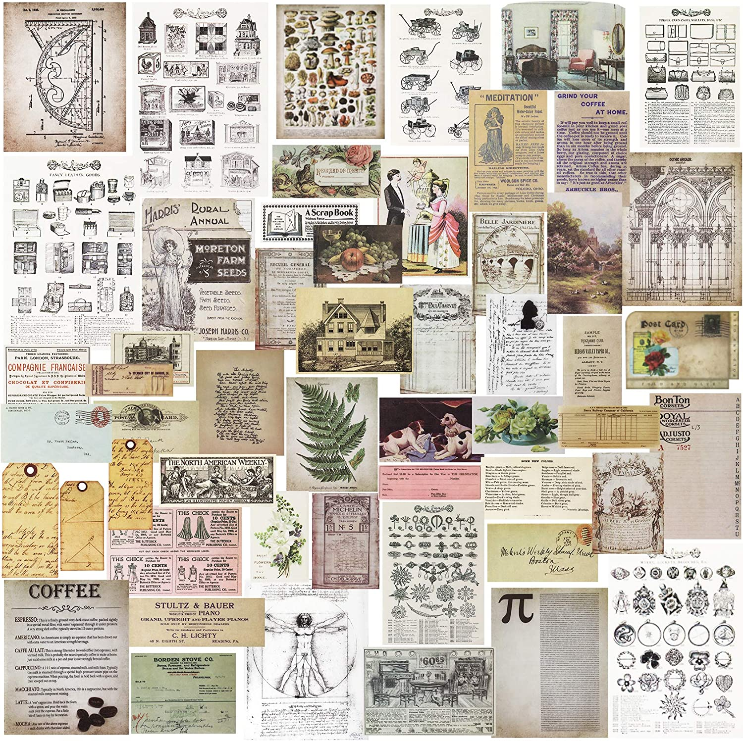 images to print for card making mixed mediaNEW Card Kit paper crafting collage art